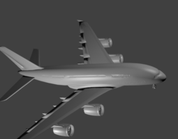 A380 airbus high poly 3D asset