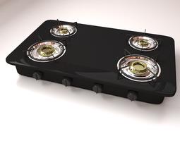 3d burner stove