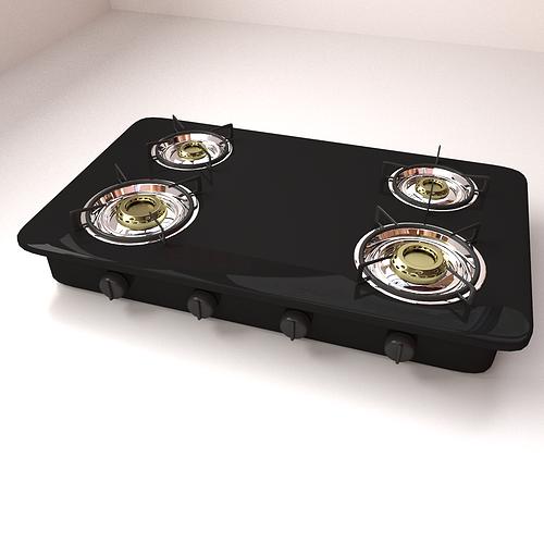 burner stove 3d model 3ds fbx blend dae 1