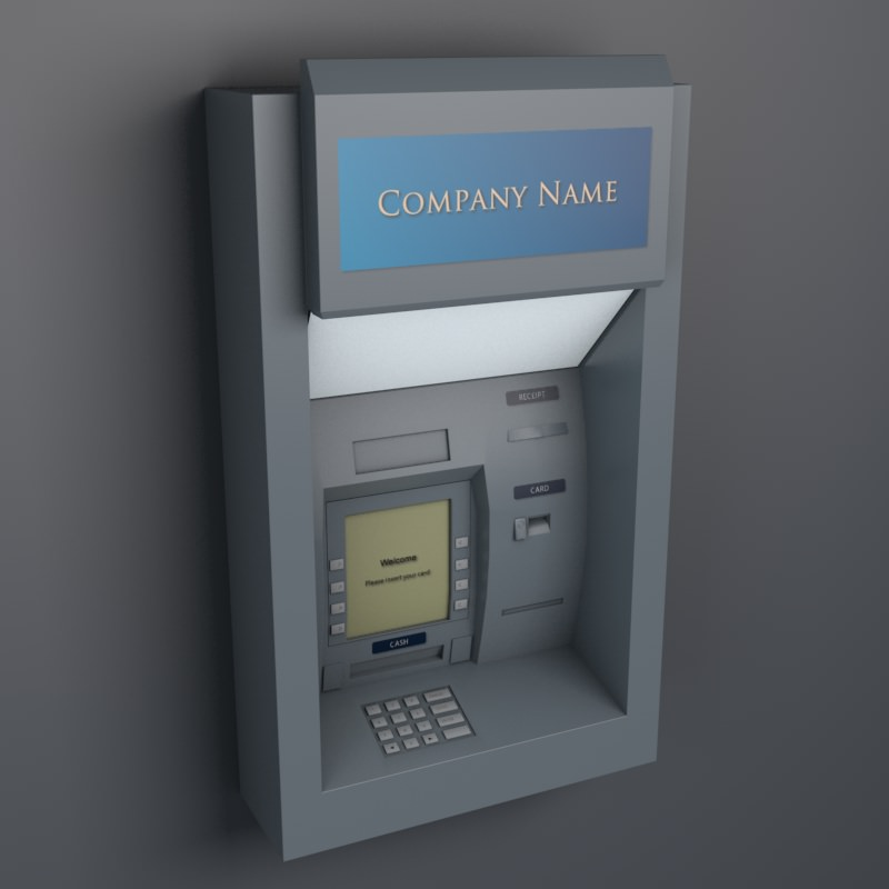 Atm Cash Machine 3d Models Cgtrader Com