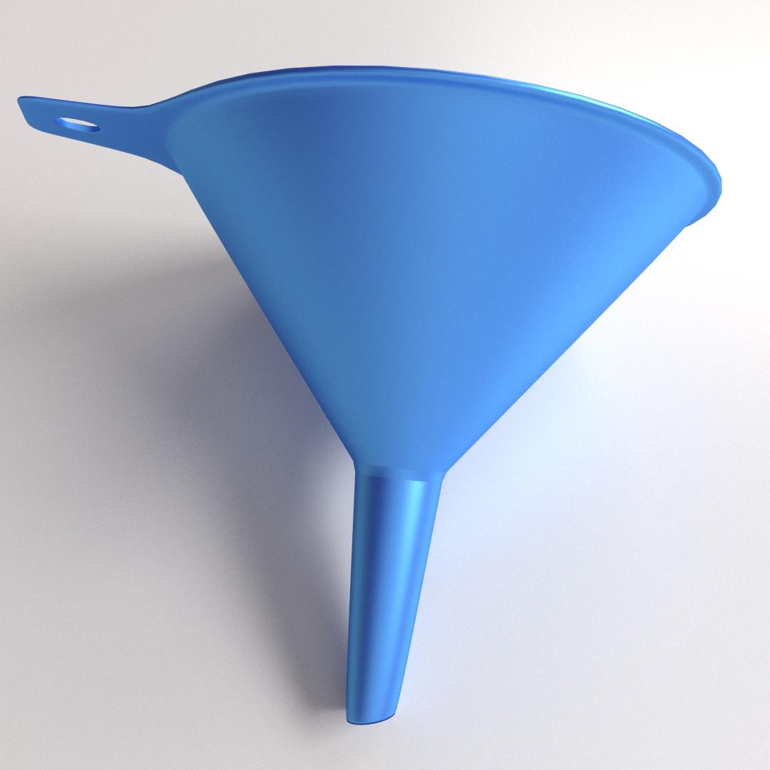 Funnel 3d Model 3ds Fbx Blend Dae Cgtrader Com