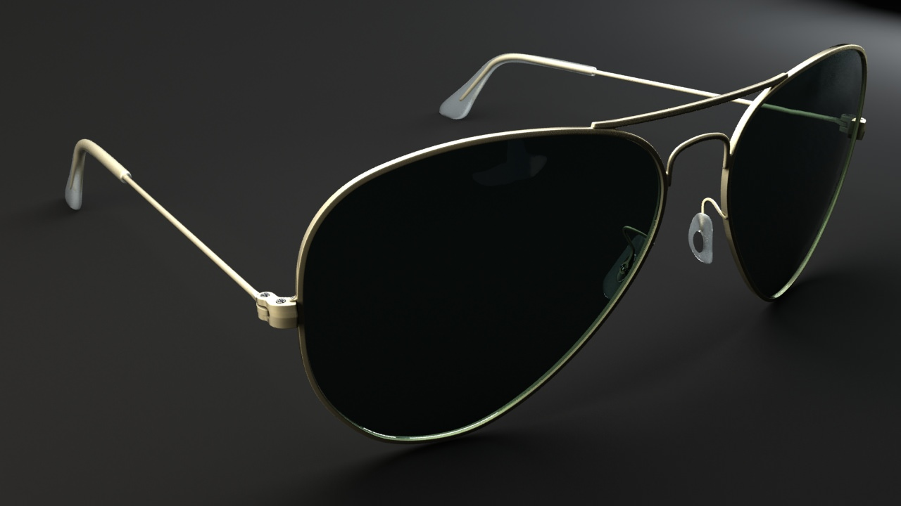ray ban aviator 3d model rigged max. Black Bedroom Furniture Sets. Home Design Ideas