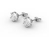 Earrings Tiffany style with diamonds 3D Model