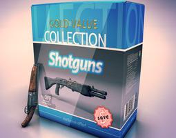 Shotguns collection 3D Model