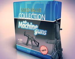 Sub Machine Guns collection 3D Model