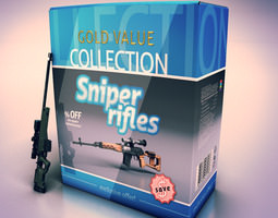 Sniper Rifles collection 3D Model