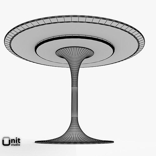 ... Saarinen Dining Table   42 Round 3d Model Max Obj 3ds Fbx Dwg  Unitypackage 6