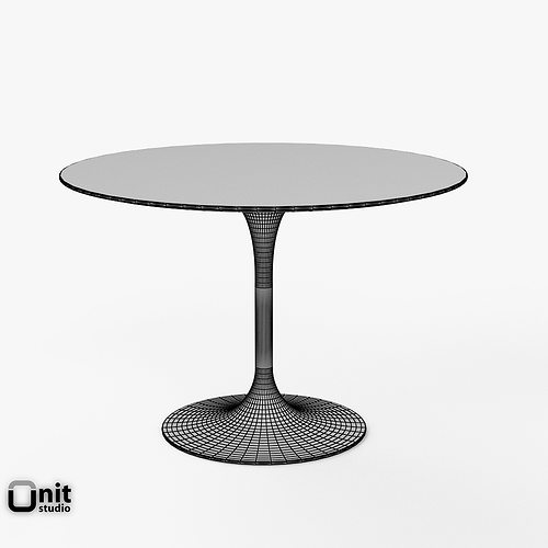Tavolo Saarinen Dwg : Saarinen dining table round d cgtrader