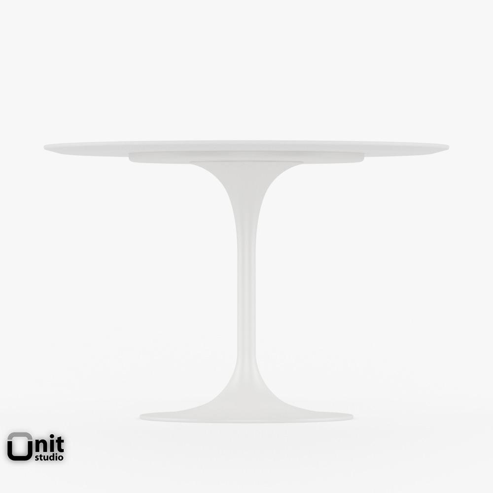 ... Saarinen Dining Table   42 Round 3d Model Max Obj 3ds Fbx Dwg  Unitypackage 3 ...