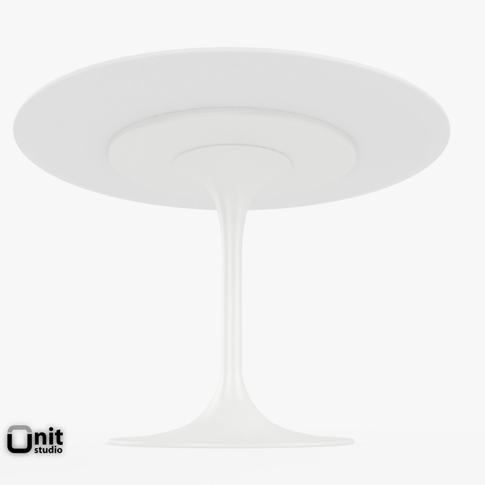Saarinen Dining Table 42 Round Free 3d Model Max Obj