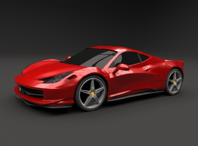 Ferrari 458 Italia restyled sports car3D model