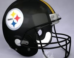 3d model pittsburgh steelers official game helmet