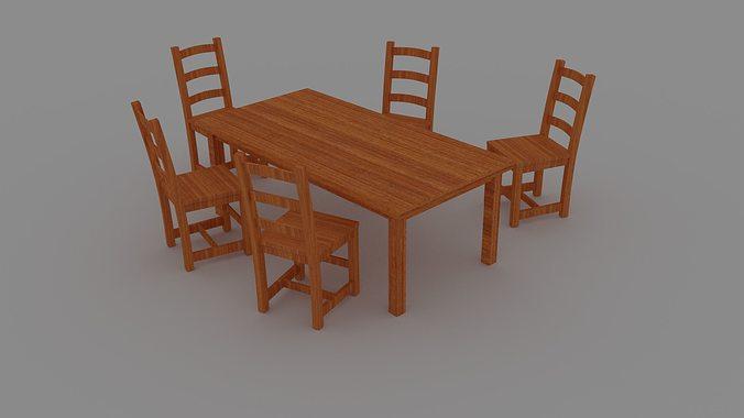 table pack 3d model obj mtl blend 1