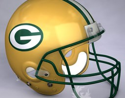 Green Bay Packers official game helmet 3D model
