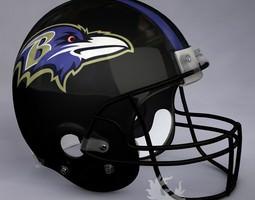 3D Baltimore Ravens official game helmet
