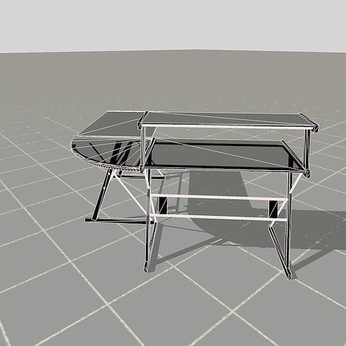 Scale model desk 3d model fbx c4d ma mb wrl wrz for Scale model furniture