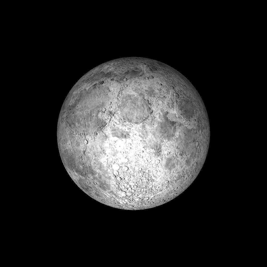 The Moon 3D Model Game Ready .obj .3ds .fbx .hrc .xsi .dae