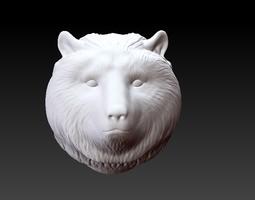 3d model bear head bangle