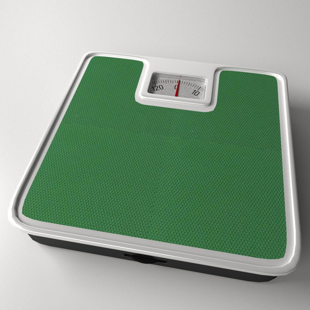 Bathroom scale 3d model 3ds fbx blend dae for Big w bathroom scales