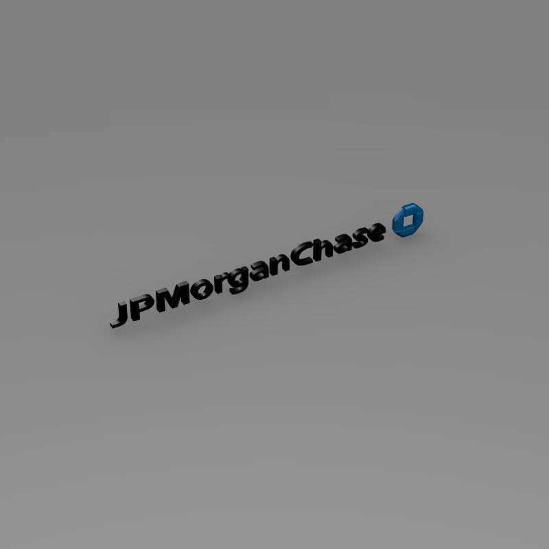 JPMorgan Chase Logo 3D Model .max .obj .3ds .fbx .c4d .lwo