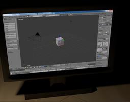 Monitor 3D asset