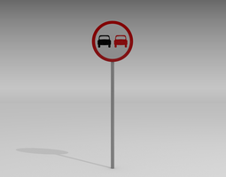 3D model No overtaking sign