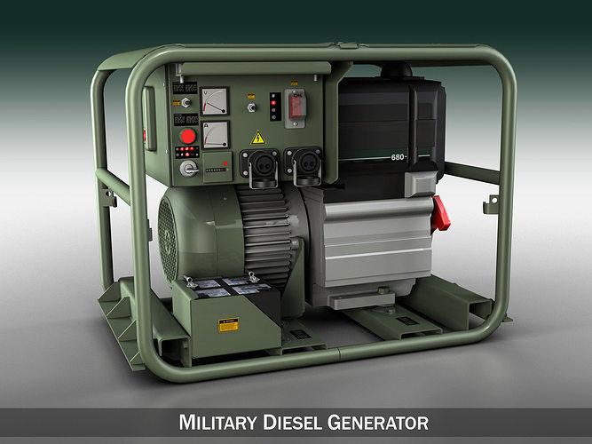 military diesel generator 3d model obj mtl 3ds fbx c4d lwo lw lws 1