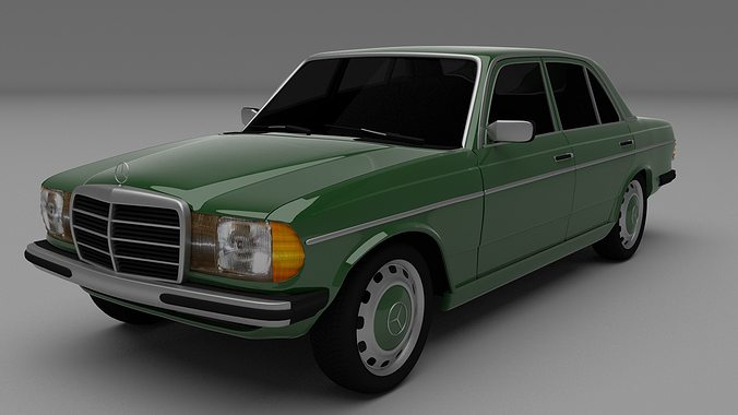 Mercedes benz w123 3d cgtrader for Mercedes benz car models list with pictures