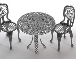 Bestro Table & Chair Set 3D Model