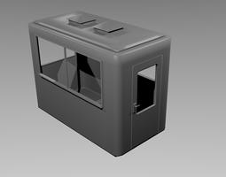 Security kiosk 3D asset