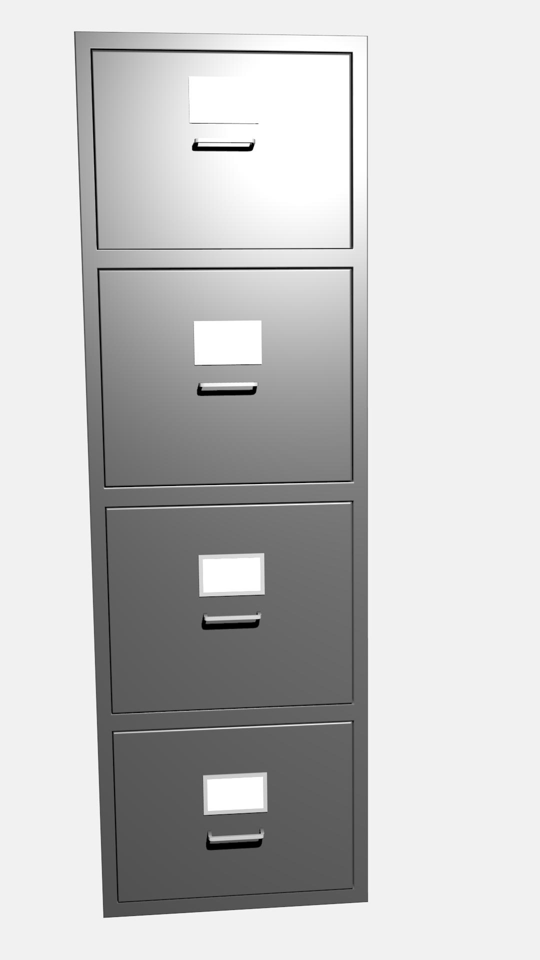 Filing cabinet 3D model CGTrader
