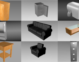 9 Object interior pack 3D model