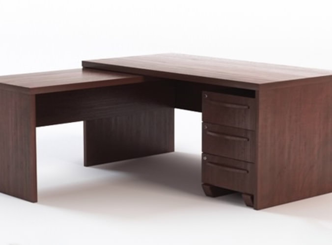 office desk with return 3d models