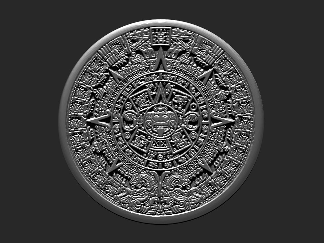 aztec_calendar_3d_model_obj_stl_ztl_4481f337 2a27 4fde be58 c8384ece2add