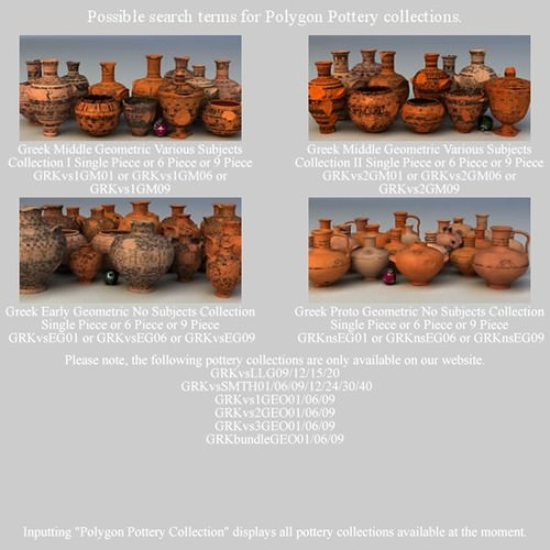 Greek Red Figure Animal Collection I 6 Piece Pottery GRKanimal1RF06 3D Model .obj .lwo .lw .lws