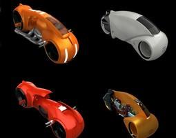 Tron Bike Collection 3D model