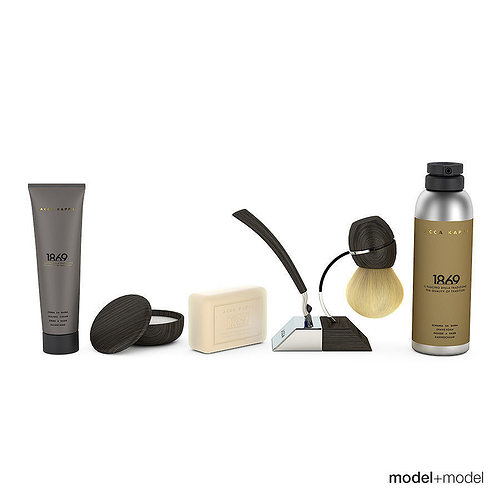 shaving set 3d model max obj mtl 3ds fbx dxf mat 1