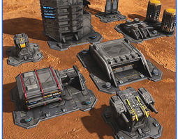 SciFi Base Pack 01 3D Model
