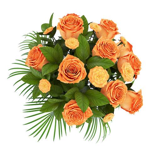 Orange Roses in White Vase3D model
