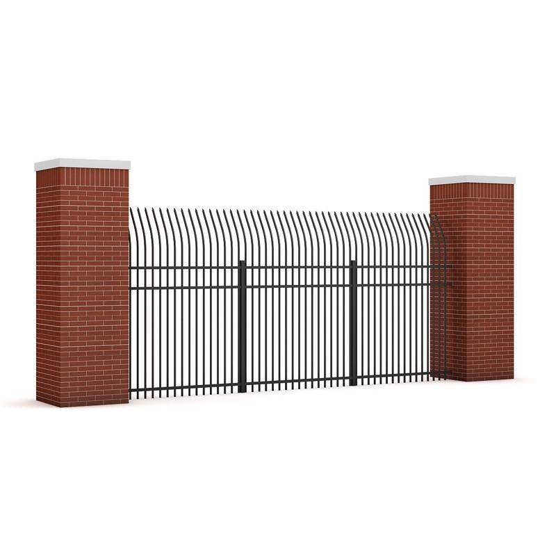 Concrete fence 07 3d model max obj fbx c4d mtl - Concrete fence models design ...