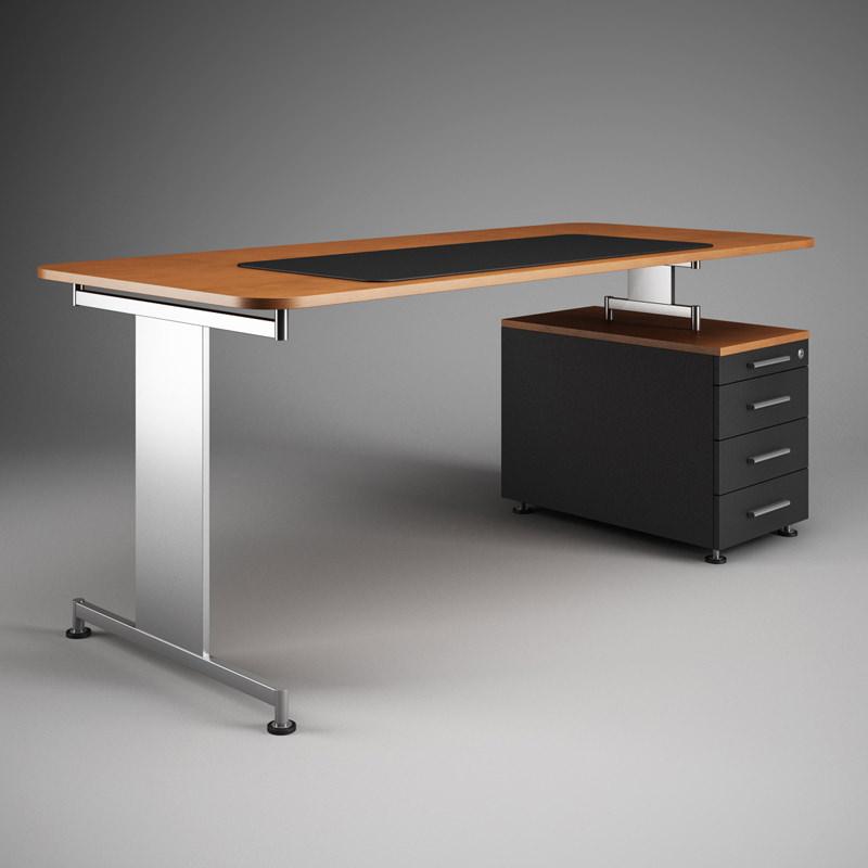 Office Desk Workstation 41 3d Model Max Obj Fbx C4d