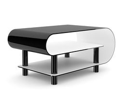 Modern Black Glossy Coffee Table 3D model