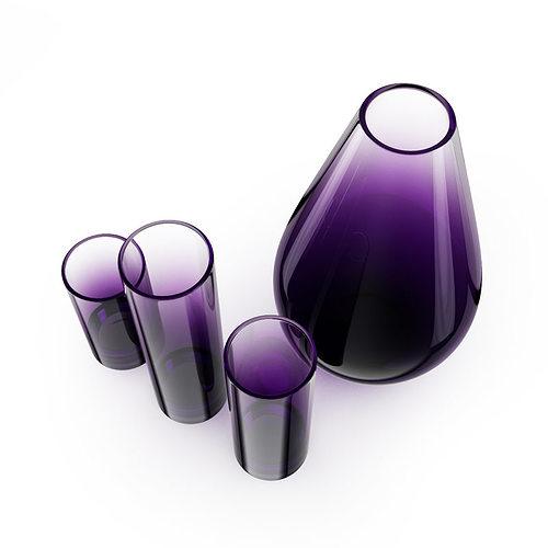 decorative glass vases 3d model max obj fbx c4d 2 - Decorative Glass Vases