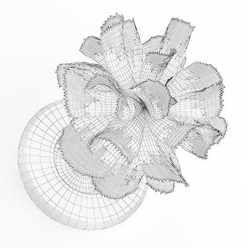 pink flower in white pot 3d model max obj fbx c4d mtl 1