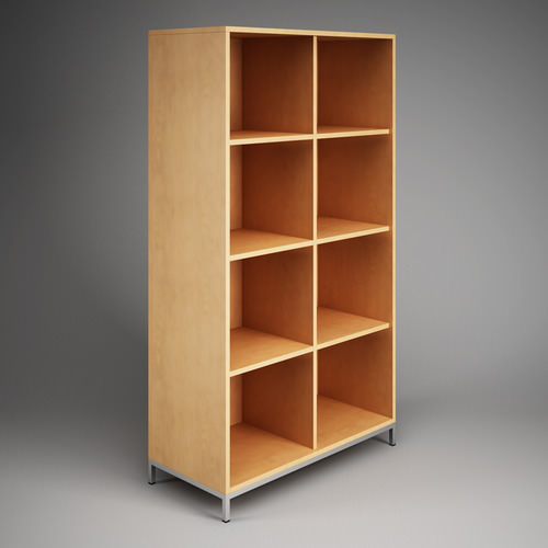 Office storage cubby shelf unit 09 3d model