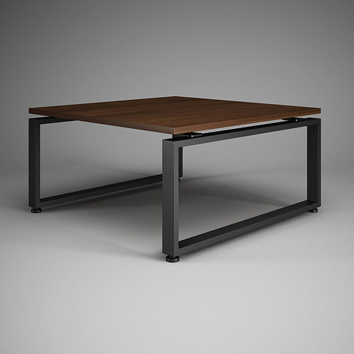 square office table 27 3d model cgtrader