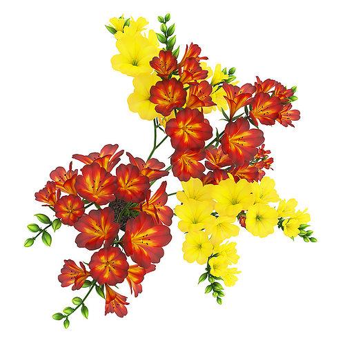 red-yellow flowers in pot 3d model max obj fbx c4d mtl 1