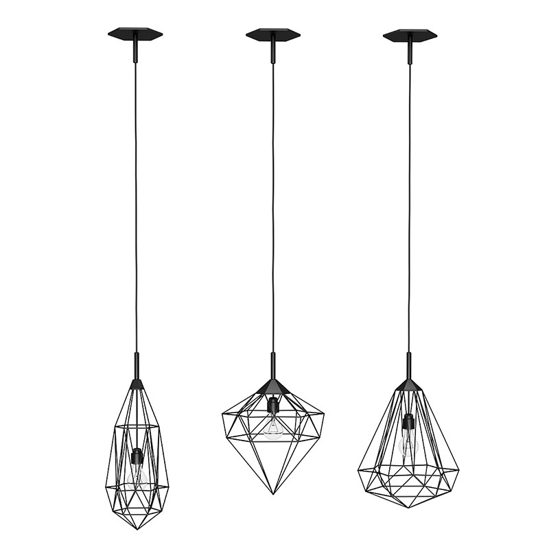 Hanging Ceiling Light 3d Autocad Model: Ceiling Lamps Set 2 3D Model .max .obj .fbx .c4d .mtl