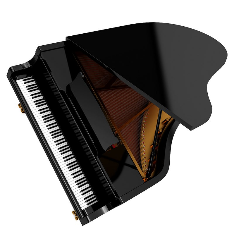 Grand Piano instrument 3D | CGTrader