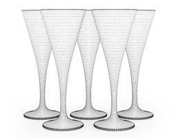 Champagne Glasses 3D Model